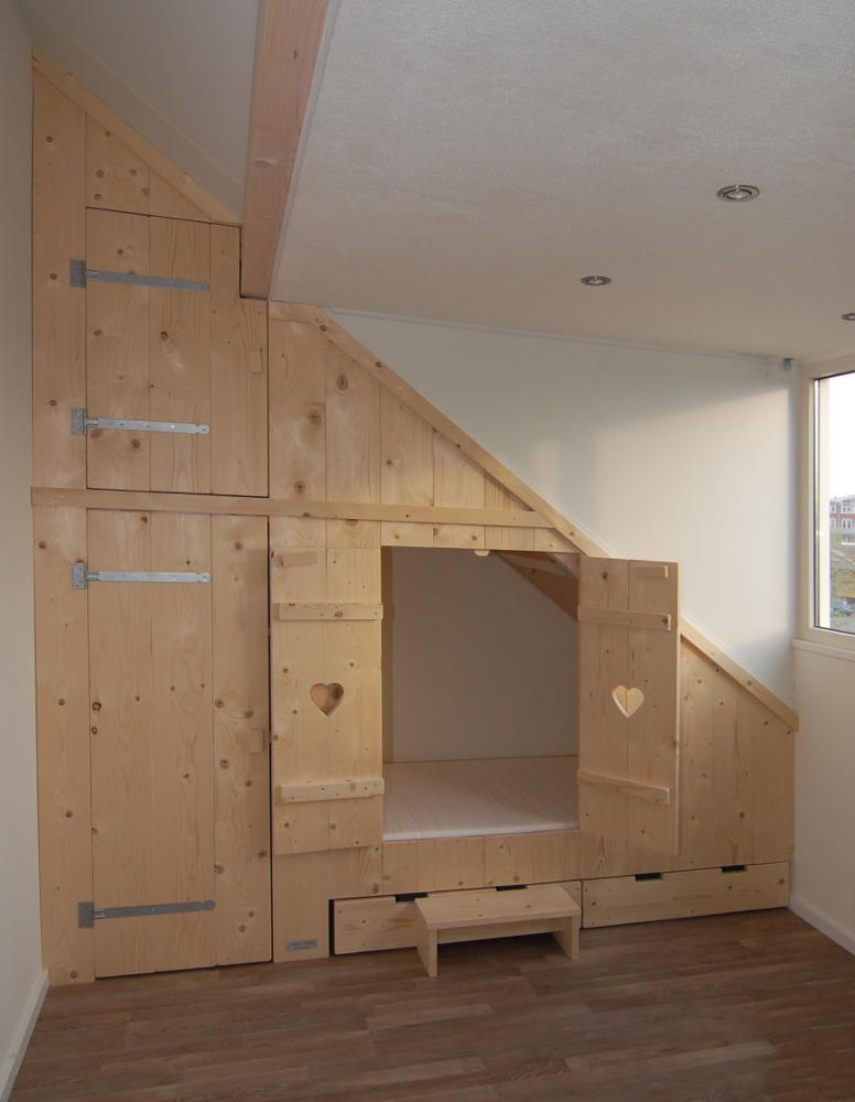 Inbouw bedstee avontuur in elke kinderkamer mura mura - Mezzanine verlichting ...