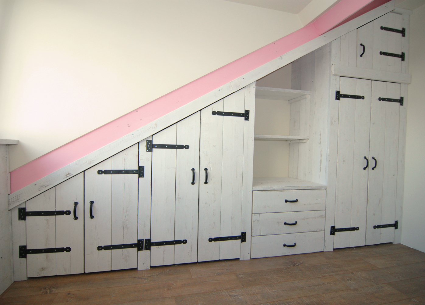 ... Behang : Slaapkamer steigerhout behang : Stoere steigerhout kasten